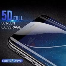 цена на 5D Soft Full Cover Screen Protector For iPhone 6 6S 7 8 Plus X XS XR Max Hydrogel Film For iPhone 8 7 6 Plus Protective Film