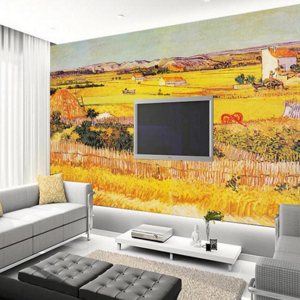 3d Abstract Cornfield Photo Mural Wall Paper Roll Landscape for ...