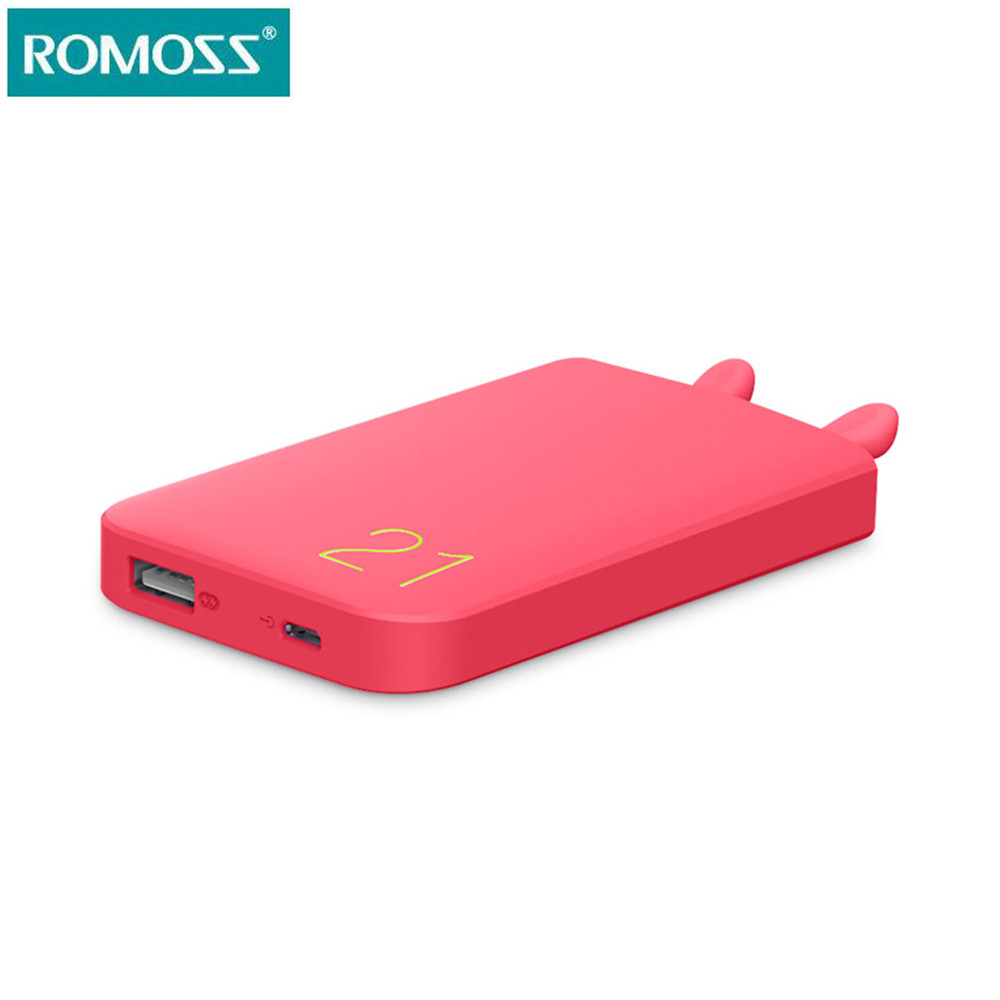 Ali-mart Store Romoss 6000mAh Real Capacity Power Bank USB Fast Charge Power Supply for Mobile Phones Smart External Battery Pack Powerbank
