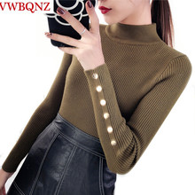 Thicken Warm Sweater Women Pullover Sexy Slim Lady Stretch Knitwear Casual Top Female Turtleneck Sweater 2019 Spring Autumn New
