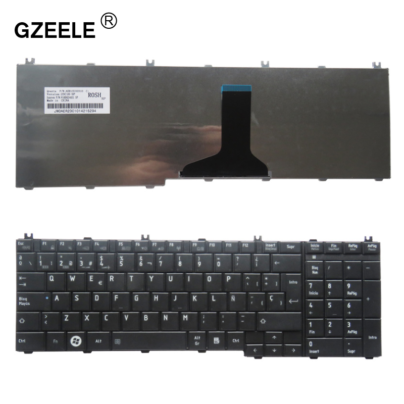 Spanish SP Laptop Keyboard For Toshiba Satellite C650 C655 C655D C660 C665 C670 L650 L655 L670 L675 L750 L755 SP Teclado