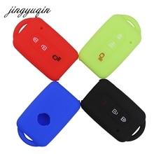 Jingyuqin 자동차 키 실리콘 FOB 케이스 커버 스킨 닛산 듀크에 대한 보호 MICRA QASHQAI JUKE X Trail NAVARA Remote keyless