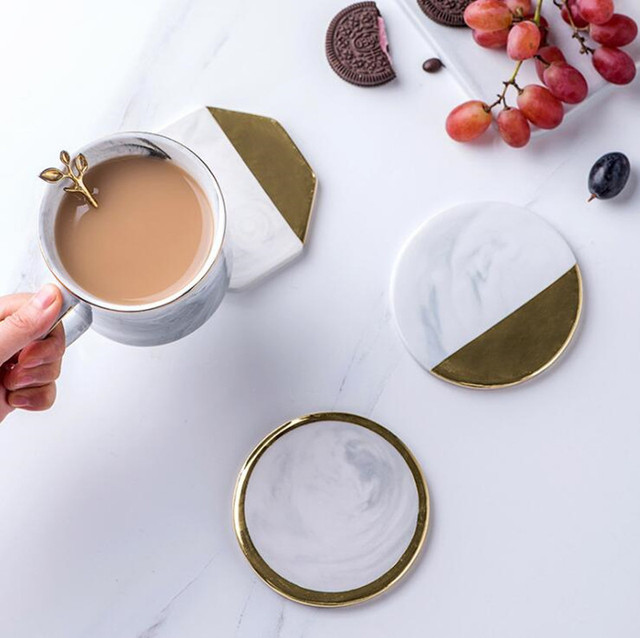 HTB1mfektf9TBuNjy1zbq6xpepXaZ.jpg 640x640 - tabletop-and-bar, drinkware - Gold Marble Ceramic Coaster