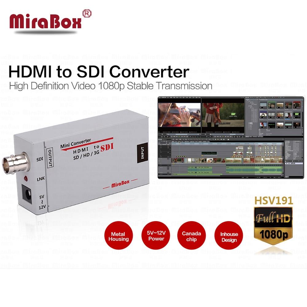 Mini 3g HDMI To SDI Converter Full HD 1080P HDMI to SDI Adapter Video Converter with Power Adapter for Driving HDMI Monitors