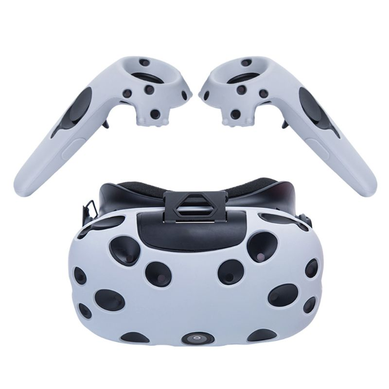 1*Set VR Controller Helmet Glasses Silicone Case Cover Shell For Htc Vive Pro