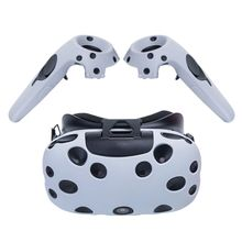 for HTC Vive VR Glasses Helmet Controller Handle Case for HTC Vive Headset VR Silicone Case Cover Skin Shell VIRTUAL REALITY Acc цена и фото
