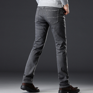 Image 5 - Winter Jeans For Men Warm MenS Pantalones Pitillos Hombre Jean Homme Mens Clothing Gray Classic Famous Brand Jing Stretch