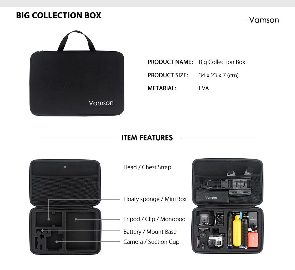Vamson for Xiao YI 4K Accessories Kit Set Tripod Monopod Head Cheat Strap Bag Adapter Mount for YI 4K + for YI Lite Camera VS147 - ANKUX Tech Co., Ltd