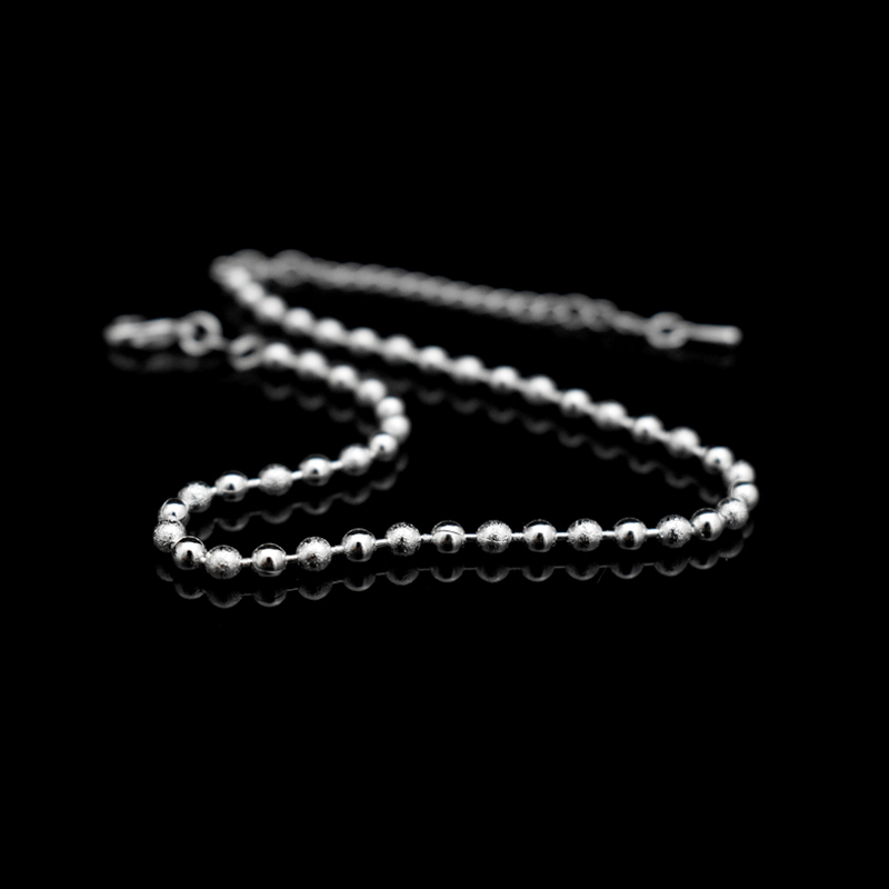 New Classic Simple Small Round Ball Bead Anklets Foot Chain For 925 Sterling Silver Ladies Foot Anklet Bracelet Women Jewelry 2