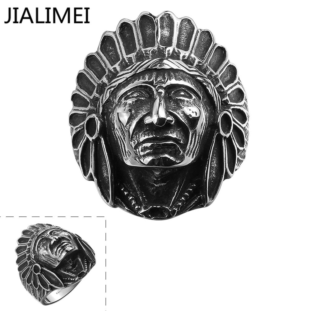 Drop Shipping Mens Cool Fashion Black Ring Stainless Steel Jewelry Egyptian Pattern Fashion Jewelry R144