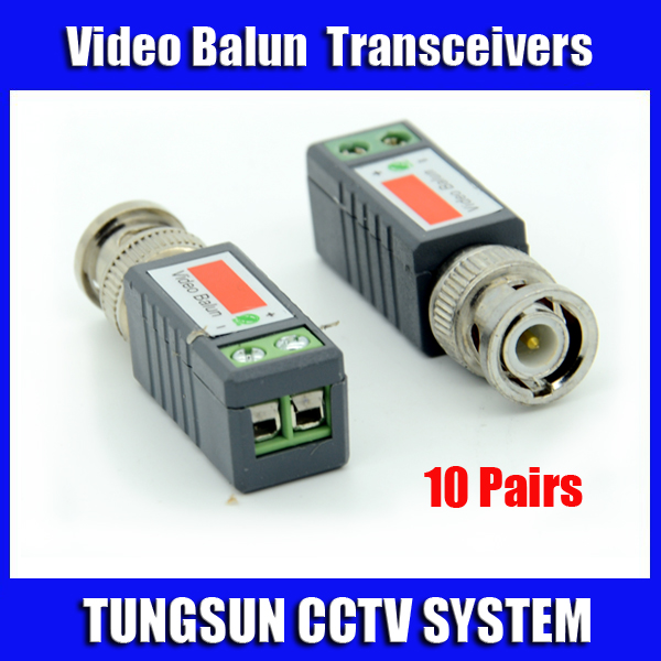 10Pairs  CCTV Twisted BNC Passive Video Balun Transceiver Coax CAT5 Camera UTP Cable Coaxial Adapter for Camera DVR new cat 5e cat 6 cable utp stripper tool ideal for coax nib