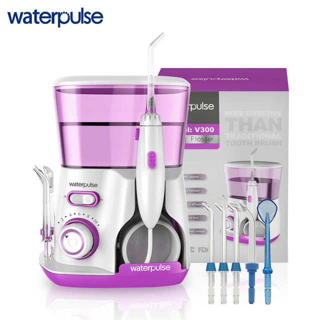 Waterpulse V300 Dental Flosser Professional Oral Irrigation 800ml Oral Hygiene Water Floss For Family Daily Oral Care 5