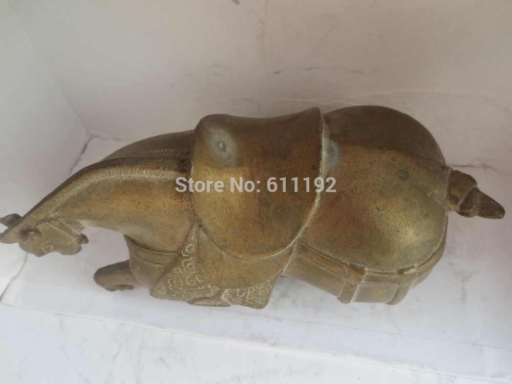 Scy نادر التحف الآسيوية تمثال البرونز النحت الحصان النحاس الحرف المعدنية ، الحجم: 16*7*9 cm