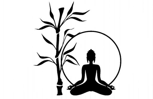 yingkai bouddha arbre relaxation zen m ditation salon vinyle amovible sticker pour la maison. Black Bedroom Furniture Sets. Home Design Ideas