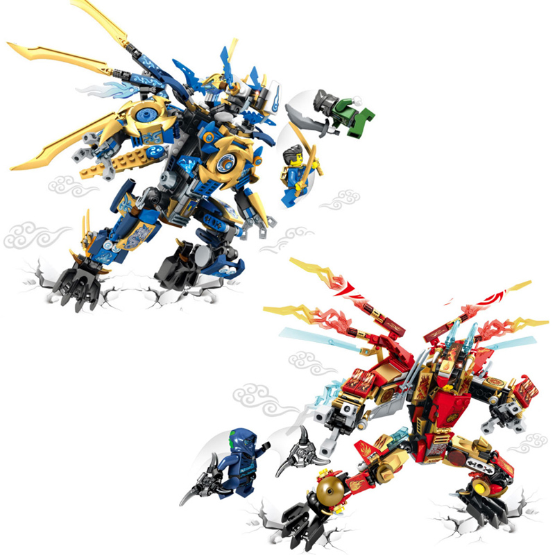 2pcs/set Ninjago Building Blocks Brick Sets Attack of the Morro Dragon Compatible LEPIN Building Blocks Bricks Toys For Children lepin 02012 city deepwater exploration vessel 60095 building blocks policeman toys children compatible with lego gift kid sets