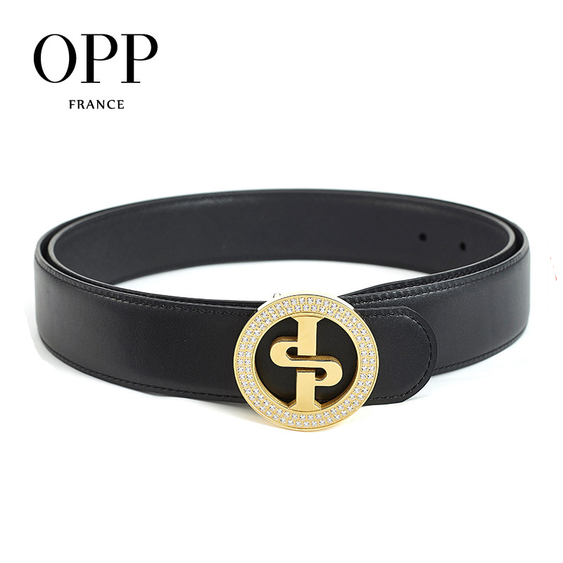 Fashion Gold Buckle Leather Business Casual Blet For Men