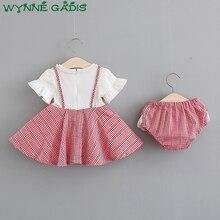 Birthday Party Kids Baby Dress Girls Pleated Tutu Dresses + PP Shorts