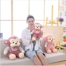 WYZHY New Year Gift Mascot Down Cotton Monkey Doll Plush Toys Send Friends Children Birthday Gifts  60CM