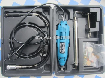 free shipping!!! Hot sale rotary polishing tool kit with plastic case, jewelry making tool and machine with rpm 8000-30000r/min