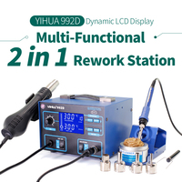 SMD 2 in 1 Multifunctional Soldering Iron Station Air Heat Gun Soldering Station YIHUA 992D