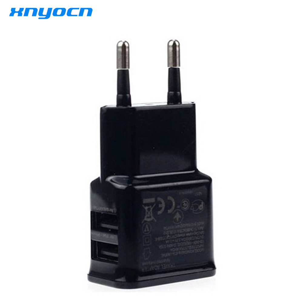 Xnyocn 5V 2A Smart Travel Dual USB Charger Adapter Wall Portable EU Plug Cellular Phone Charger for iPhone 5 6 S Samsung Tablet ...