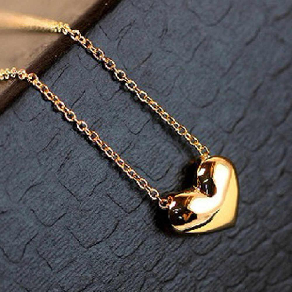 Newest ClassyJewelry Necklace 1pcs Fashion Women Gold Heart Bib Statement Chain Pendant Necklace Jewelry Gift New