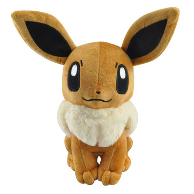 Sitting Pokemon Eevee Plush Toys Doll Big Size 32cm Pocket Monster Eevee Stuffed Plush Toys Figure Collectible Toy Gift for Kids