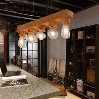 Япония woode подвесной светильник кухня столовая барная Подвесная лампа e27 droplight