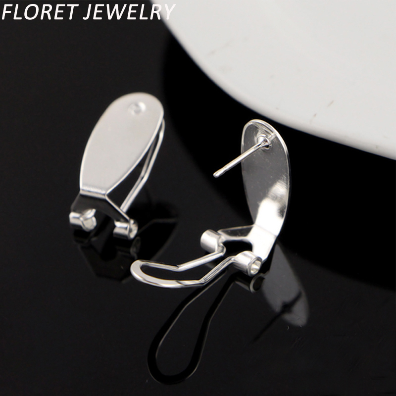 Nouveau 400 pièces = 200 paires d'ongles boucles d'oreilles deux couleurs argent et or Clip boucles d'oreilles Costume bijoux résultats
