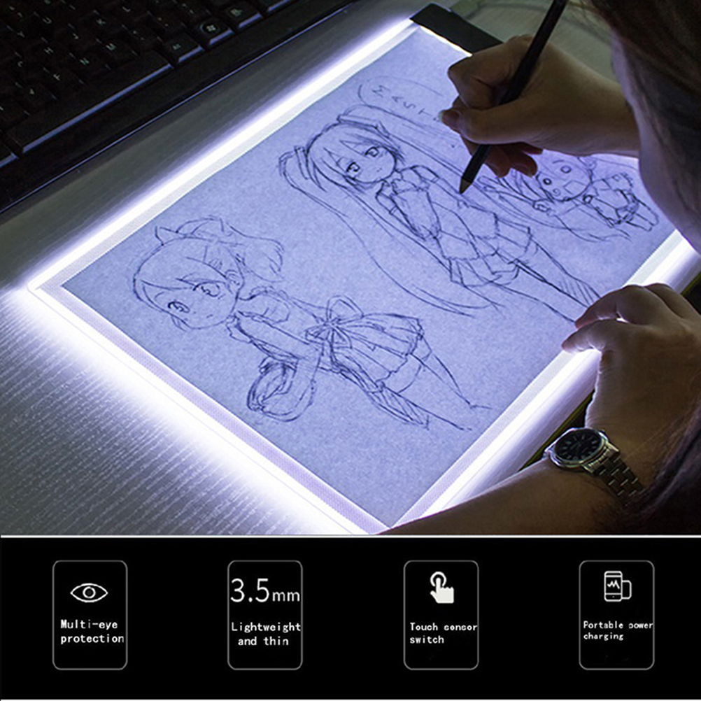 Digital Tablet A5 Led Artist Thin Art Stencil Drawing Board Tracing Table Pad Light Box Diamond Painting Accessories