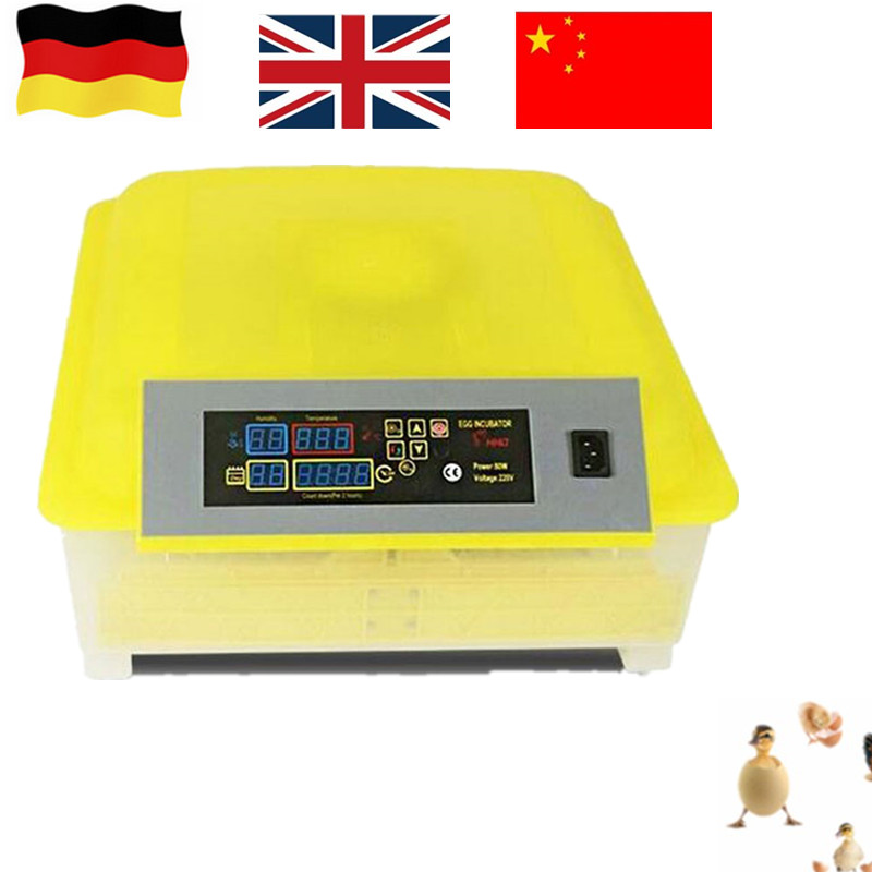 48 Eggs Digital mini Clear Egg Incubator Hatcher Automatic high quality best selling mini industrial egg incubator of 48 eggs for sale commercial hatcher incubadora de huevos automatica