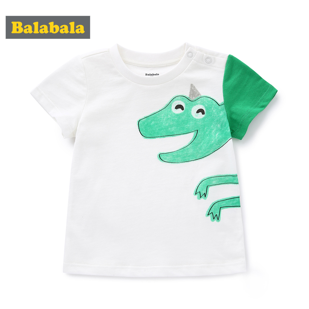 Tshirt Baby Short-Sleeve Bottoming Print Cartoon Summer New Wave Balabala
