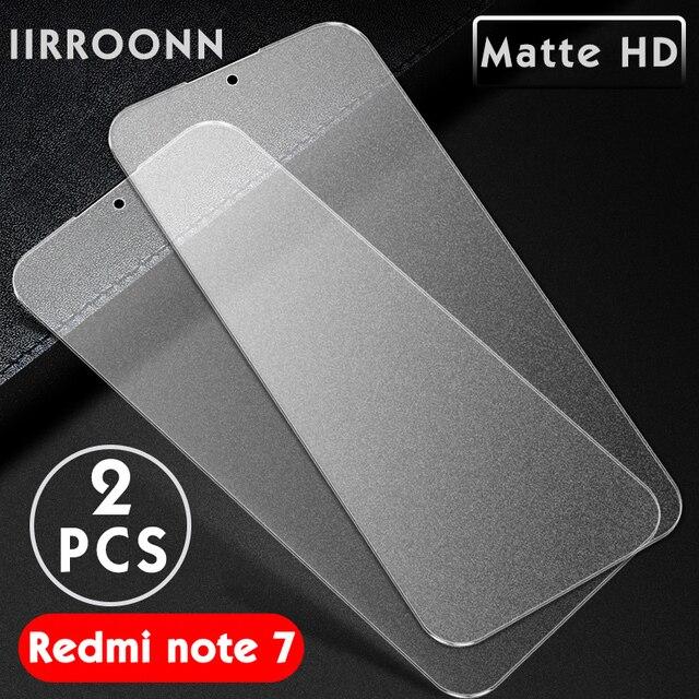 2 個マット強化 Xiaomi Redmi 注 7 6 Pro のスクリーンプロテクター xiaomi Redmi note7 プロ保護ガラス Redmi 7
