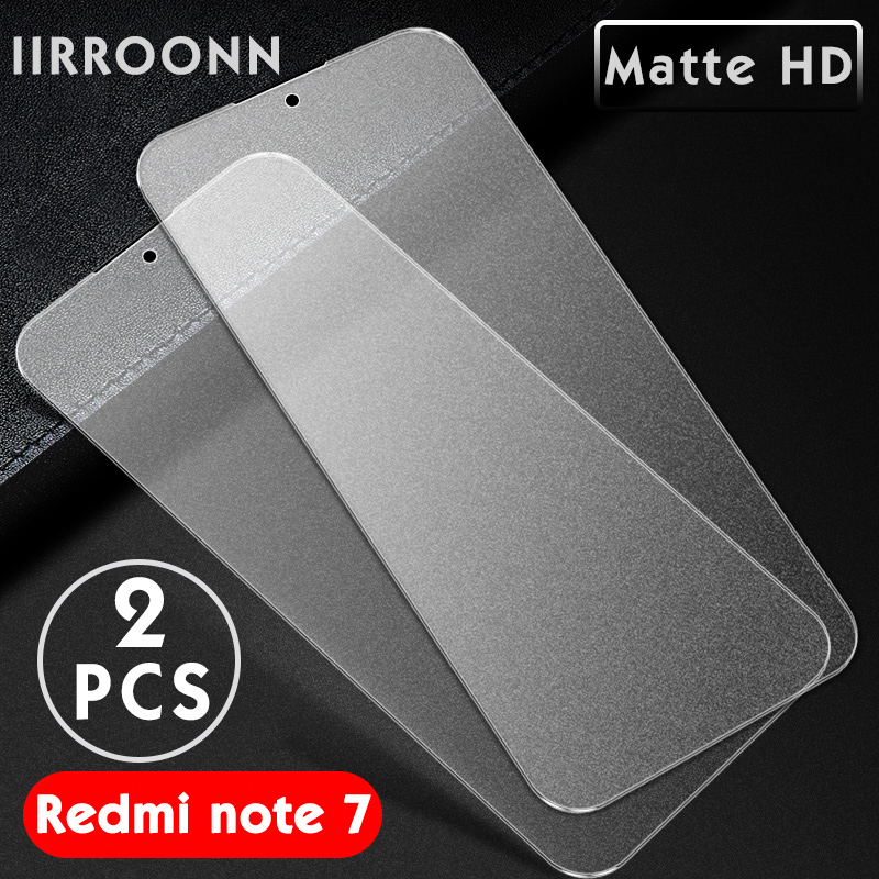 2PCS Matte Tempered Glass For Xiaomi Redmi Note 7 6 Pro Screen Protector for Xiaomi Redmi note7 pro Protective Glass For Redmi 7-in Phone Screen Protectors from Cellphones & Telecommunications