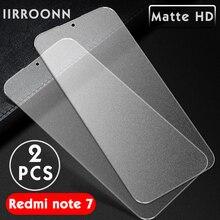 2PCS 매트 샤오미 Redmi Note 7 6 스크린 프로텍터 샤오미 Redmi note7 프로 보호 유리 7