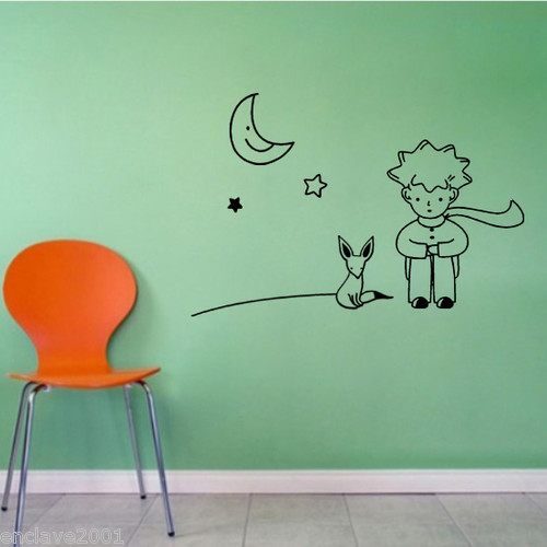 The little prince fox moon star decor mural art wall Decoration le petit prince