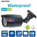 Câmera de CCTV 1080 P Câmera IP ONVIF 2.0MP 24 pcs leds Impermeável Ao Ar Livre IR CUT Night Vision P2P Plug and jogar, frete grátis
