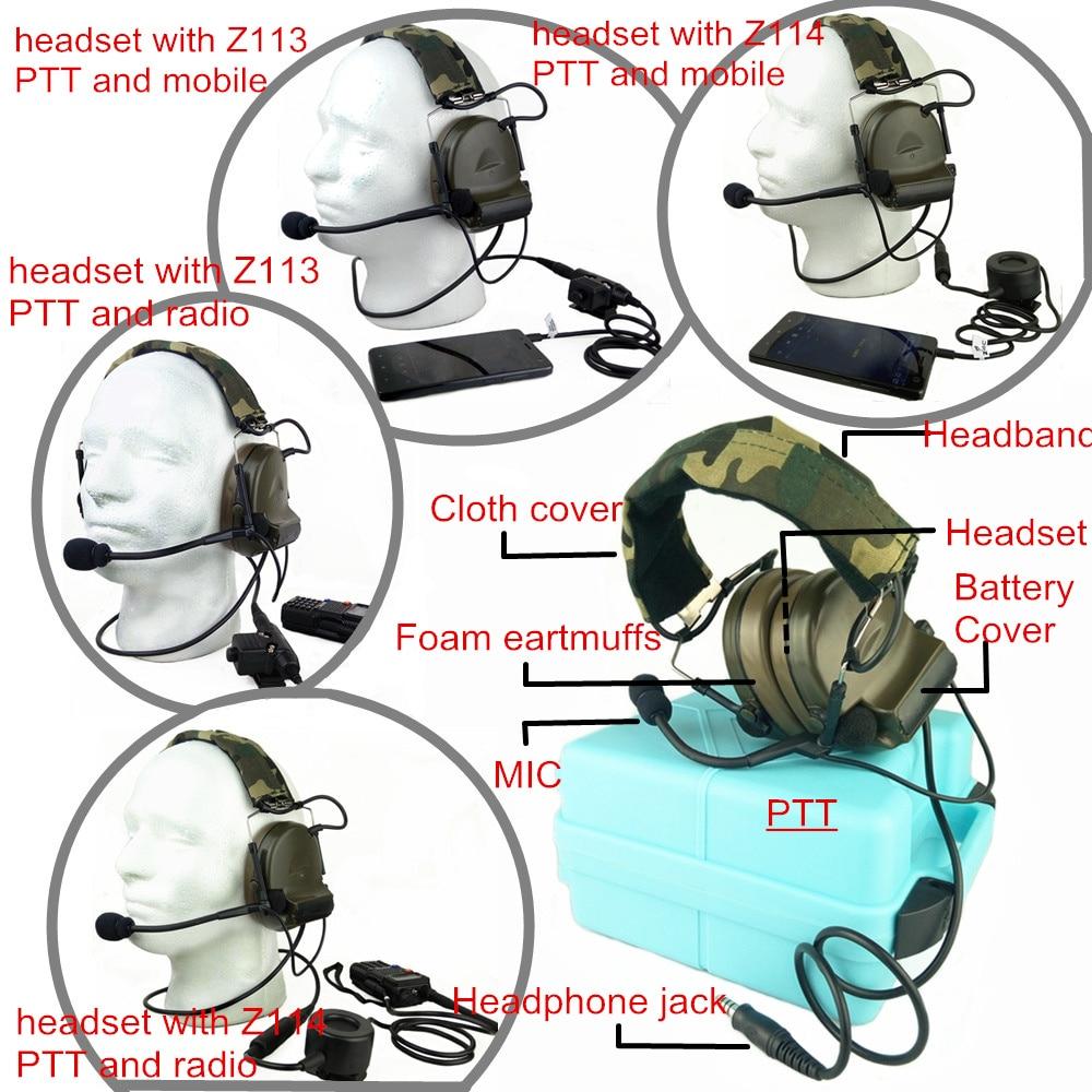 Military COMTAC Type Headset Adaptor for ARC Helmet Rail FMA TB334 Black