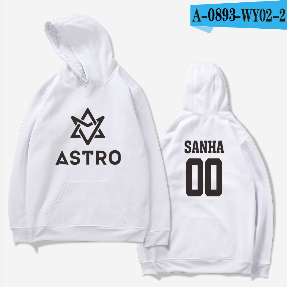 LUCKYFRIDAYF 2018 ASTRO Kpop Hoodies Moletom STAR Group Spring Women/Men Harajuku Sweatshirt Casual Hoodie Men/Women Clothing 28
