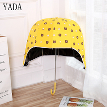 YADA High Quality Helmet Cartoon Bear Umbrella Girl Outdoor Toys Kids Lovely Children Long Handle Design uv Umbrellas YD033