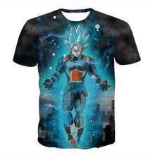 2017 Graphic T-Shirts Dragon Ball Super Saiyan Blue Rose God Vegeta Goku