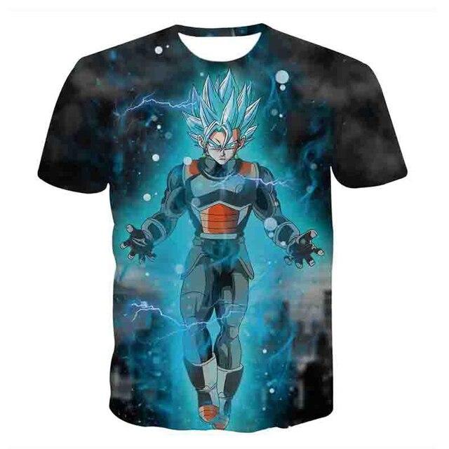 Dragon Ball Z T-shirts Mens Summer Fashion 3D Printing Super Saiyan Son Goku Black Zamasu Vegeta Dragonball T Shirt Tops Tee