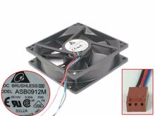 Delta Electronics ASB0912M F00 DC 12V 0.20A 90x90x25mm 3-wire Server Square Fan