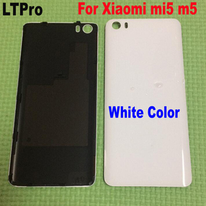 Original for Xiaomi Mi 5 M5 Mi5 Battery Cover 3D Glass Material Back Battery Door Housing Cover Case With Lock Pins ceramics(China)