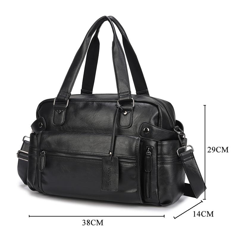 Business Designer PU Leather Handbags Men Travel Laptop Briefcase Bag