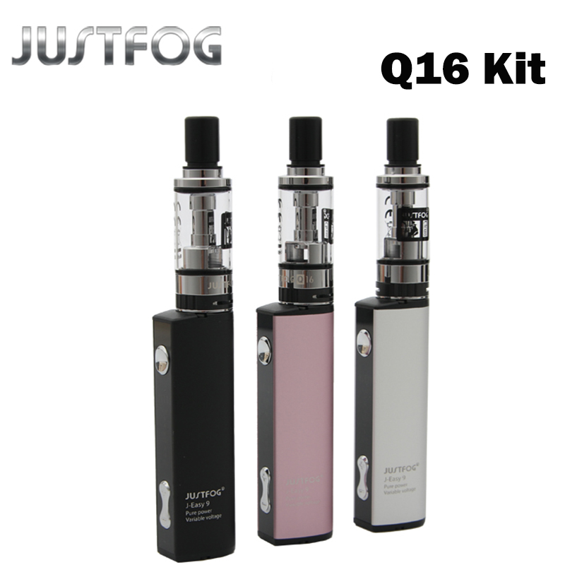 Justfog Q16 Starter Kit 900mah Li-ion Battery Variable voltage Anti-leakage Starshield System e Sigaret Starter Kit