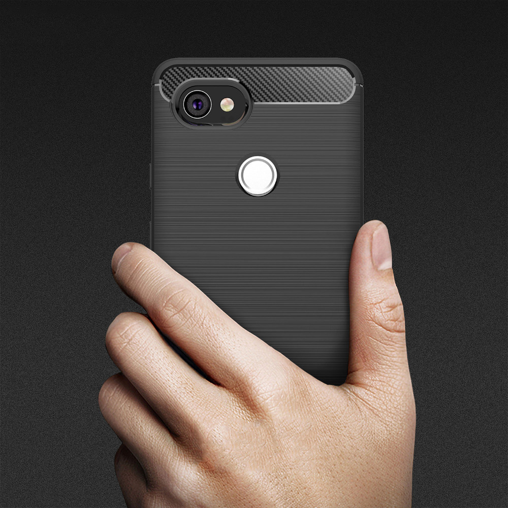 Cover For Pixel 2 Case Ultra Slim Thin Luxury Armor Carbon Fiber Soft Case For Google Pixel 2 Xl Case For Google Pixel 2 Case