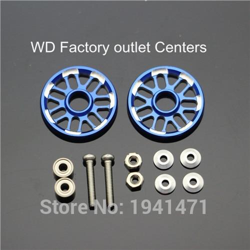 RFDTYGR Aluminijasti 19 mm snežni valjarji Samo izdelani deli Tamiya MINI 4WD 19 mm Barvni aluminijasti vodnik -kolo D012 2Sets / lot