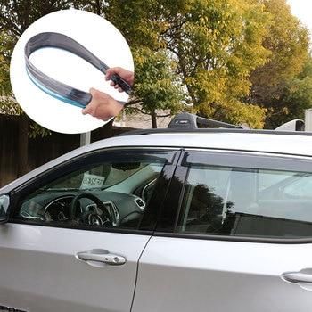 4Pcs/Set Car Windows Visors Awnings Wind Rain Deflector Visor Guard Vent Sticker Case For Jeep New Compass 2017 2018 Accessories
