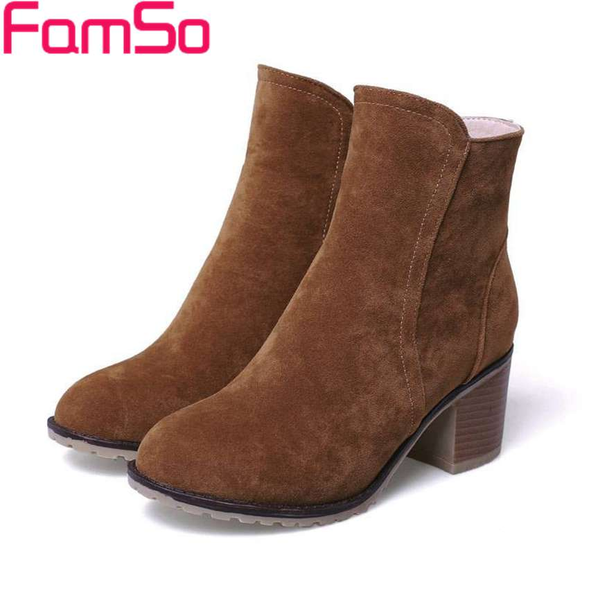 Plus Size34 43 2016 new Sexy font b Women b font Spring Autumn High Heels Ankle